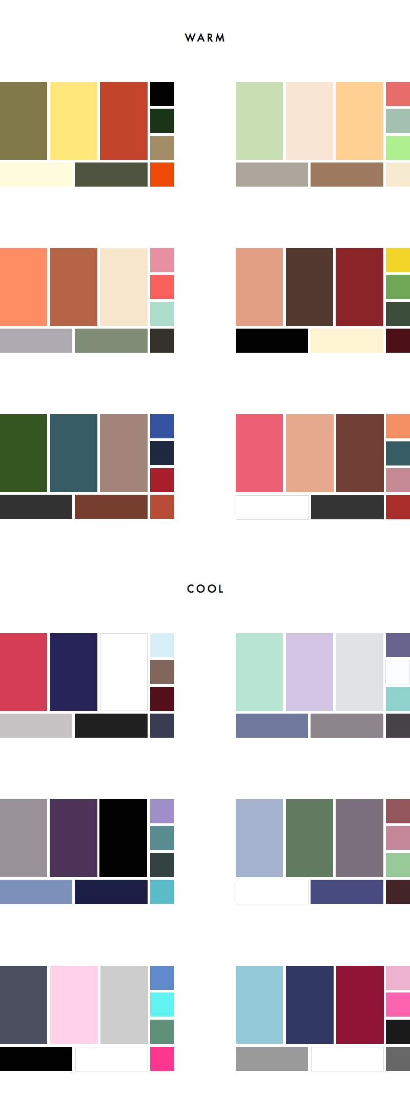 How to choose a colour palette for your wardrobe 36 sample part ii 36 sample colour palettes geenschuldenfo Gallery