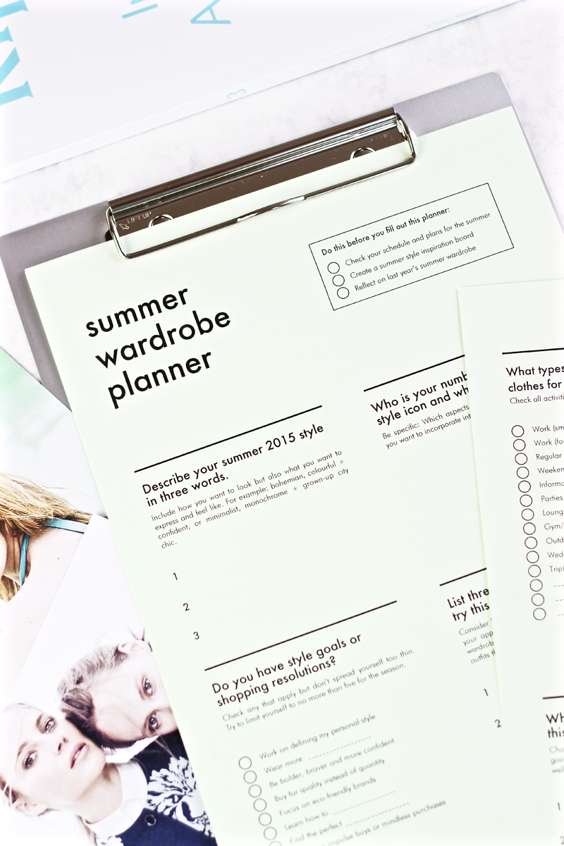 Free Summer Wardrobe Planner | INTO MIND