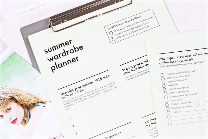 Free Summer Wardrobe Planner by INTO MIND