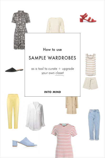 How to use sample wardrobes as a tool to curate + upgrade your own closet