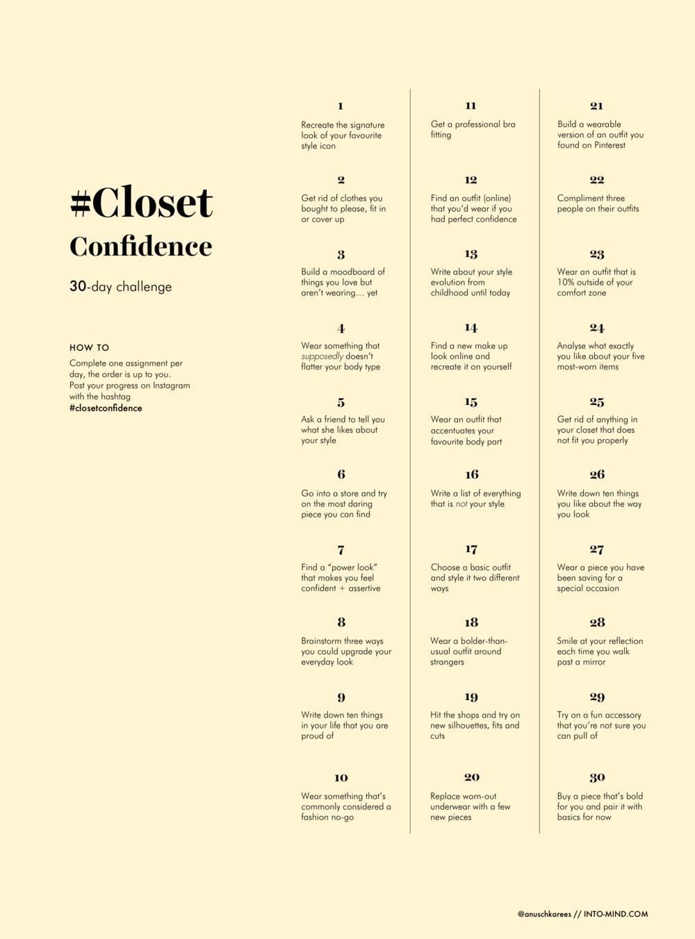 30-Day Closet Confidence Challenge