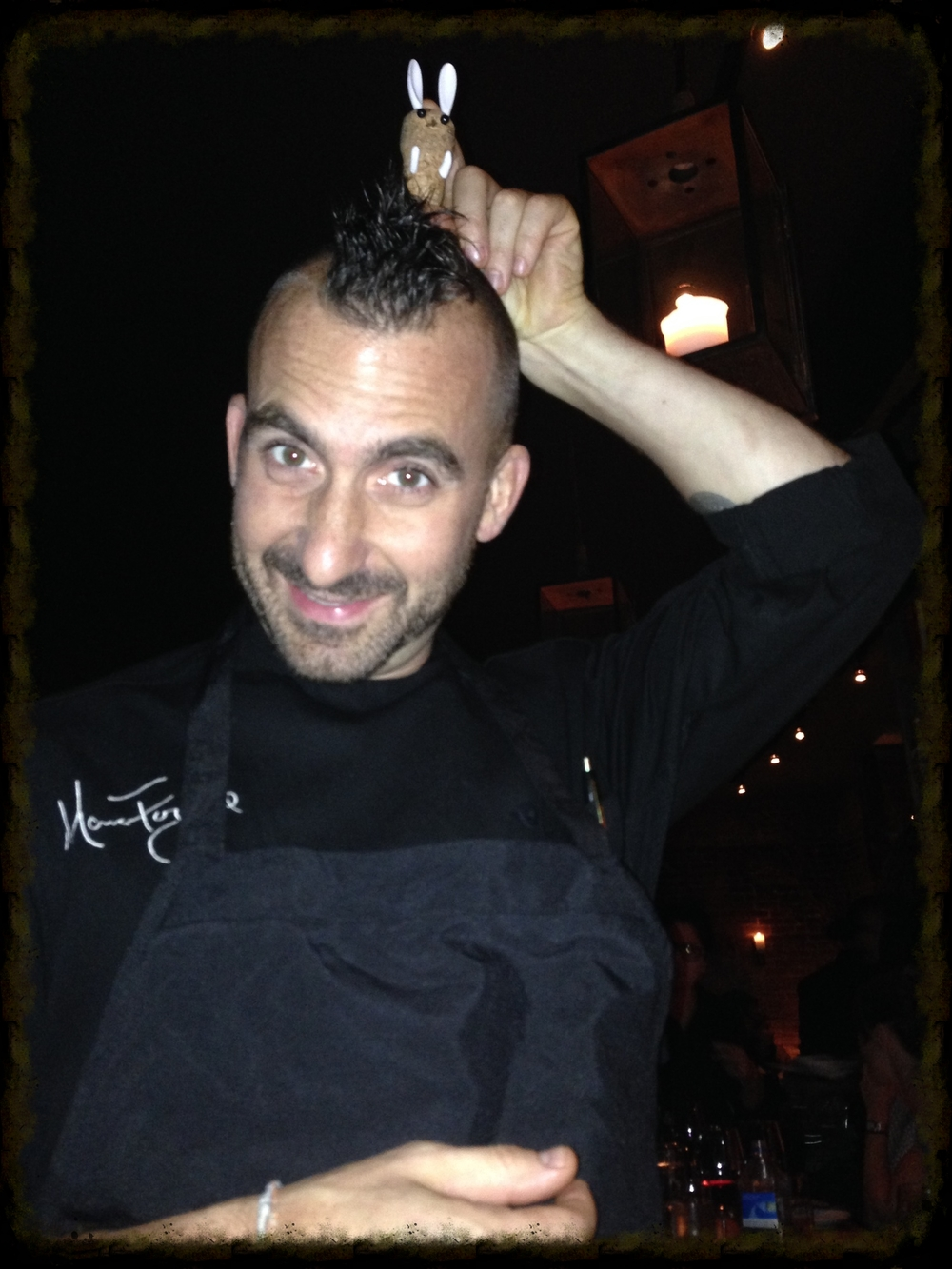 Iron Chef Marc Forgione... all work & play