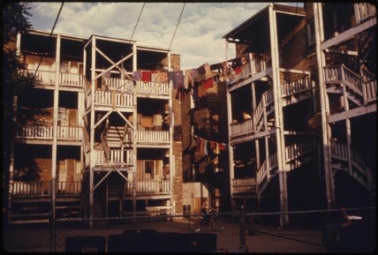 Uptown tenement 1960s