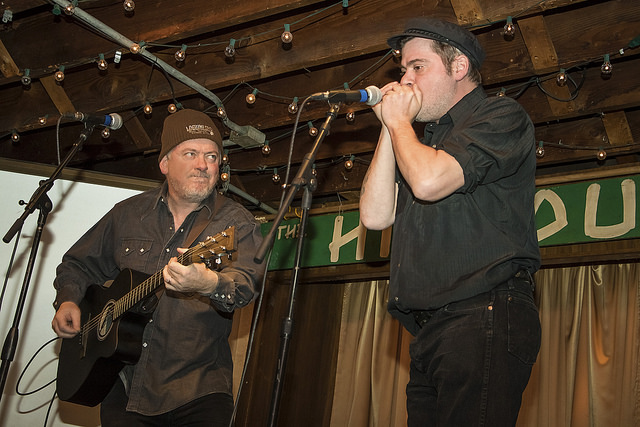 Jon Langford and Martin Billheimer playing at The Hideout in Chicago