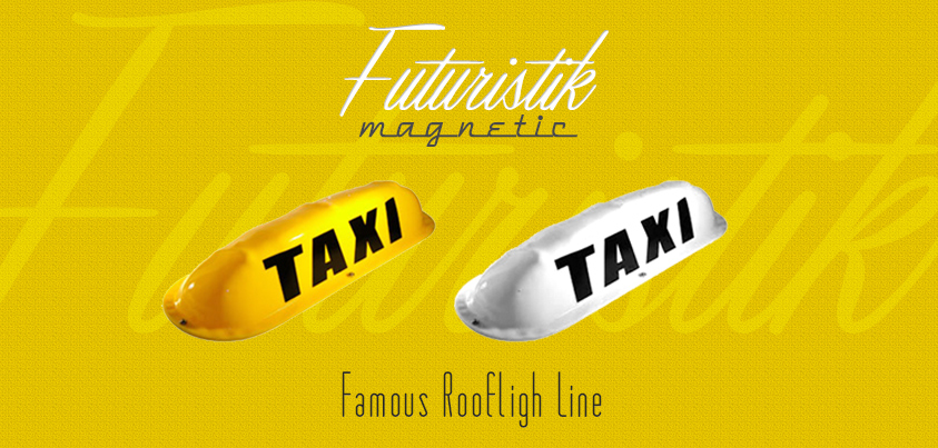 The   Futuristik   family line has the most audacious    Rooflights    ever, This sturdy automotive-grade-polymer toplight brings the best of a golden taxi era into a more dynamic and retro stylistic    futuristik  style.