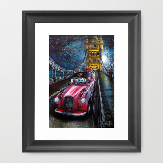 "$40.00  FRAMED ART PRINT  / VECTOR BLACK MINI (10"" X 12"")"