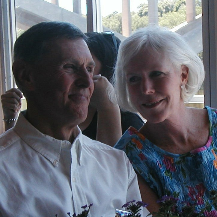 "caught my parents enjoying themselves at my cousin dan's wedding a few years ago. This is what i call the ""wait for it, I'm about to make you laugh with my sarcasm"" smile. summers need more moments like this."