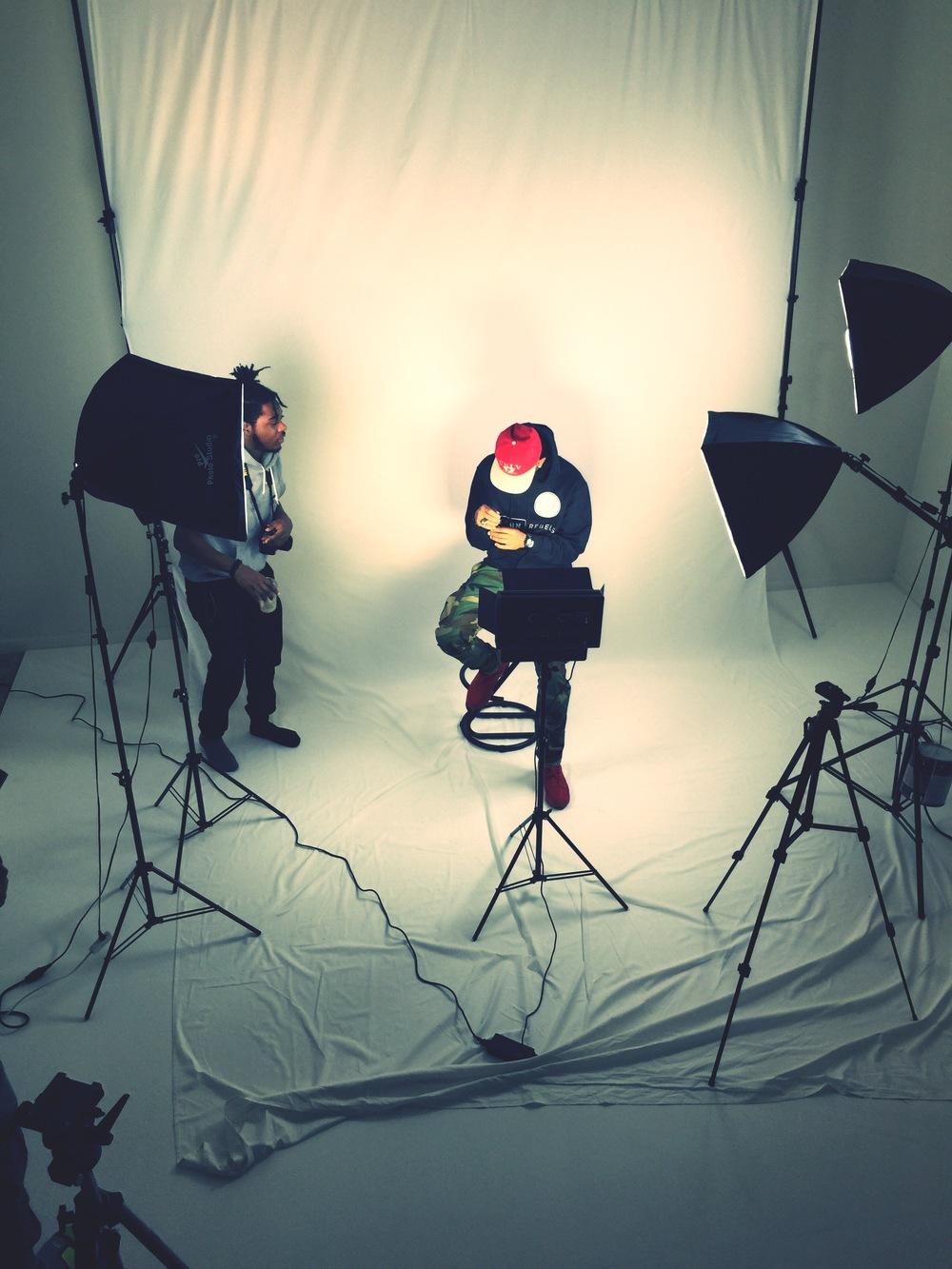 Me on set with R.E.B.E.L . Shot by Brian Burns (@bce__3)