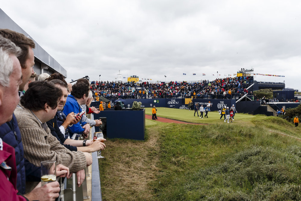 PACKAGE PERKS - ● Official Admission Ticket to The Open● Fast Track Entrance● Located Alongside the 1st Hole● Dedicated Hospitality Staff● Private Restroom Facilities● Private Decking Area● Souvenir Programme and Order of Play● Full TV Coverage of Play● Air Conditioned Facilities● VIP Parking Pass (1 per 2 guests, if requested)