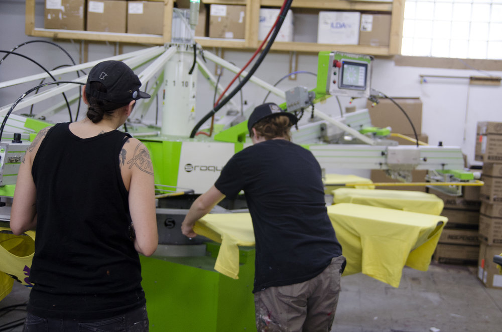 Screen Printing at Twin City Tees