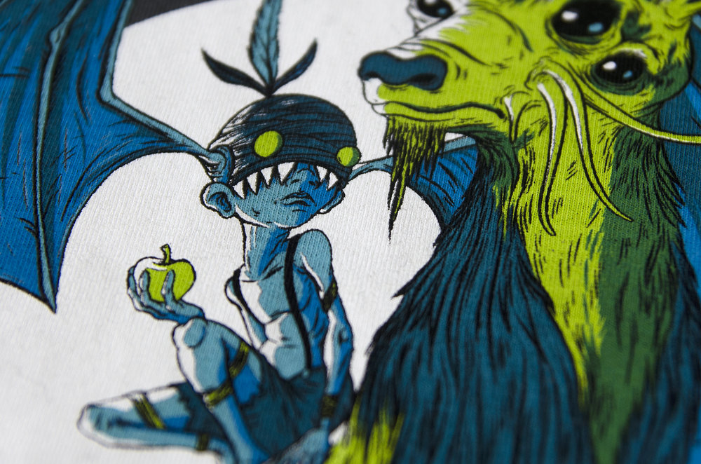 Screen Printed Image Close Up | 5 Colors