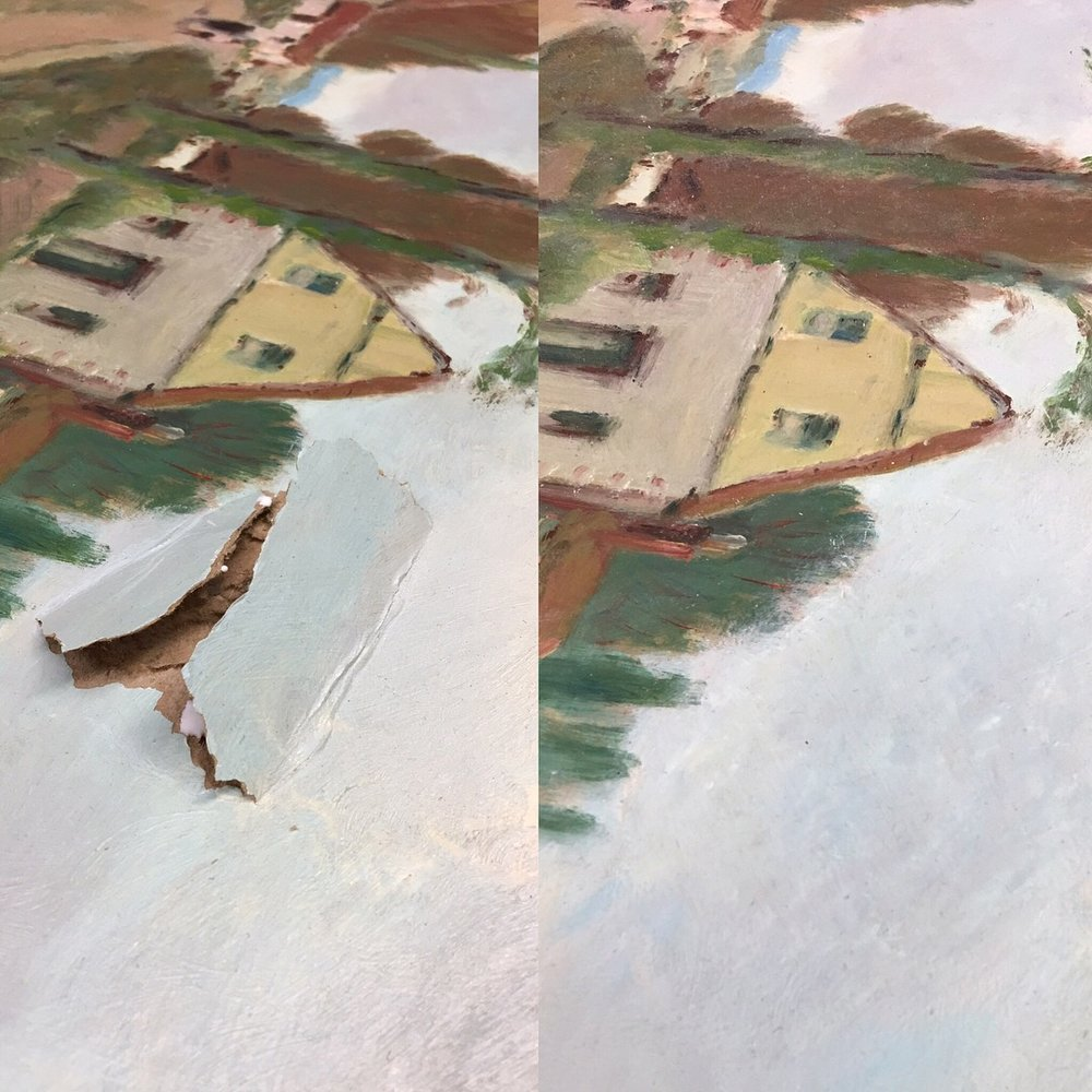 Paintings - No matter how extensive the damage is to your painting we can repair it to as good as new!
