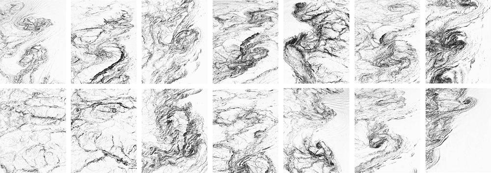 SALTSTRAUMEN MAELSTROM CARTOGRAPHY,XIV Landscape Units, 2014 Inkjet Print. Ultrachrome Pigmented ink, 33 x 26 cm c/u.