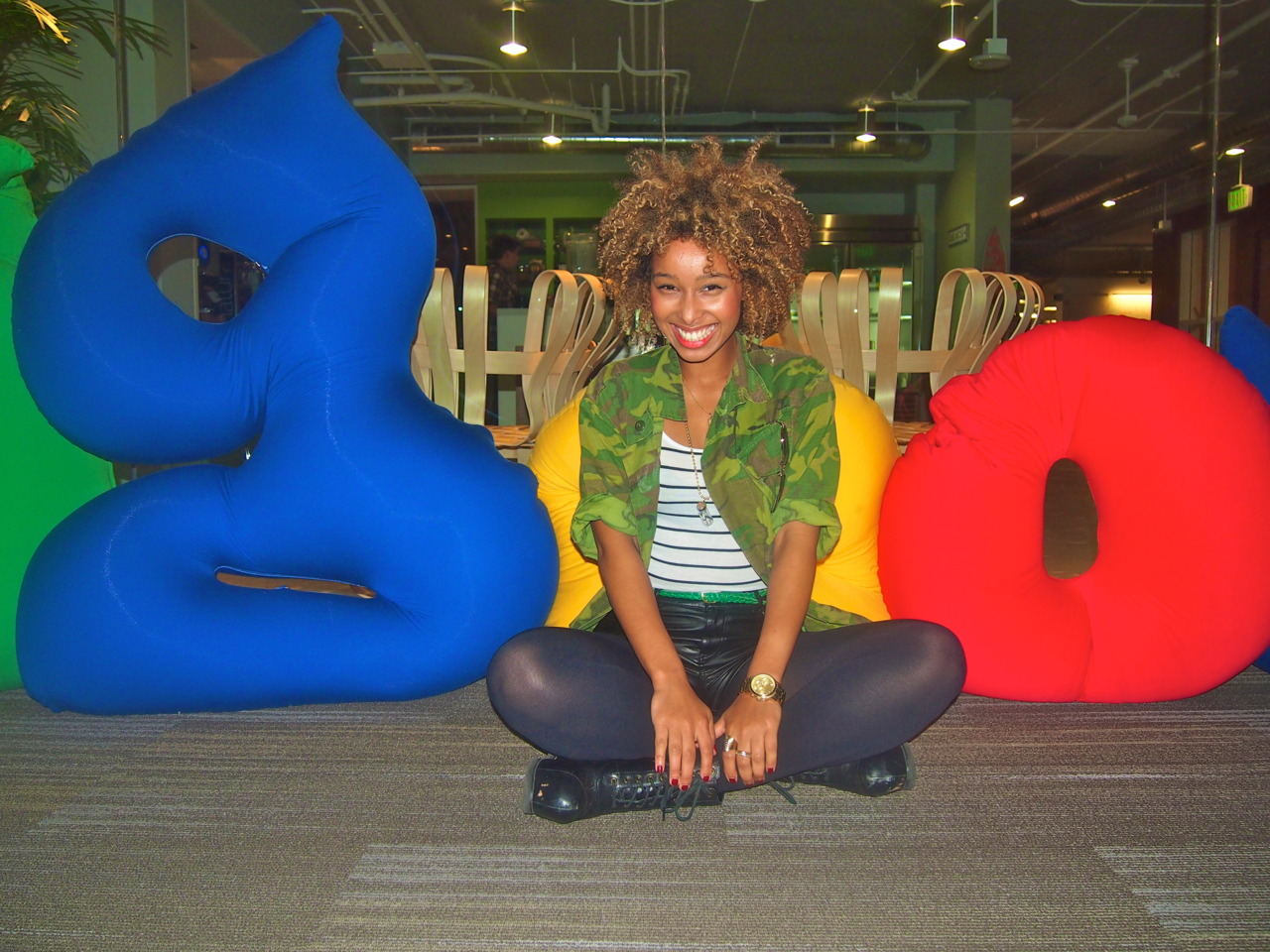 IMAN: At the Google building
