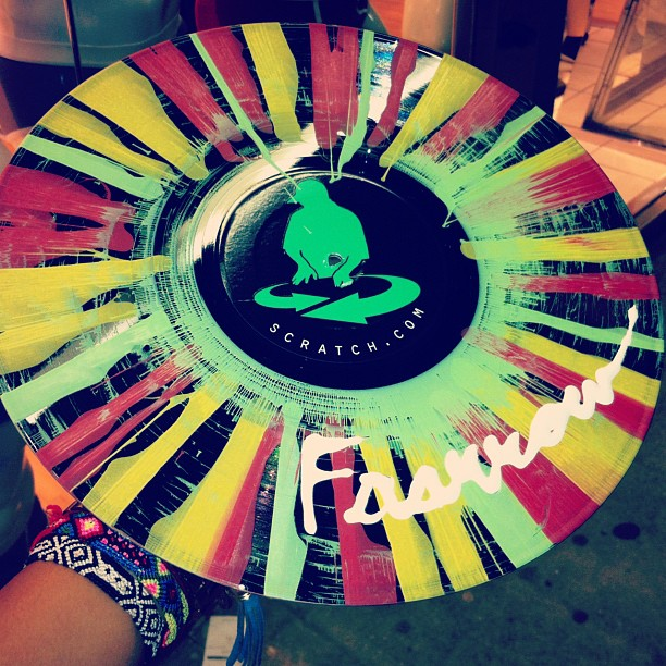 Custom FAARROW vinyl by Scratch L.A #MelroseNight (Taken with Instagram)