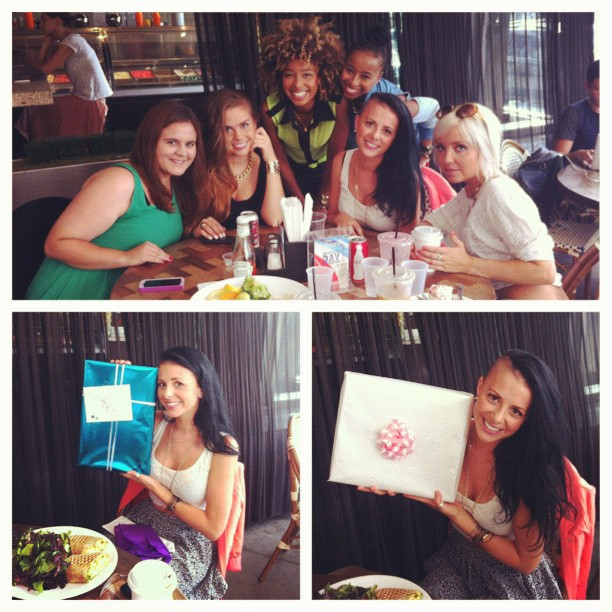 #picstitch Camilla's B-day!!💋🎉🔔🎁👑🎂 with @itsTheCharlies @hannaghall eating @PrimoCafe #SoiCey (Taken with  Instagram )