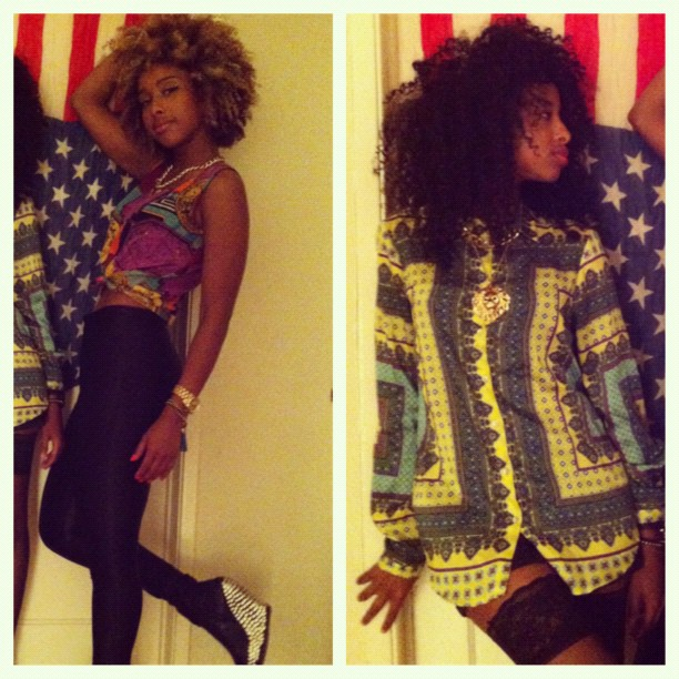 #picstitch #Lastnight #faarrow #naturalhair #Curlyhair #jeffreycampbell #Americanapparel  #Zara #Sisters #fashion #Americana  (Taken with  Instagram )