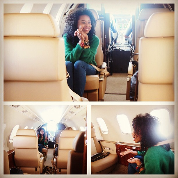 Discussing #wishcreatively 30,000 feet in the air …needed a little privacy #faarrow #projectgirlpower #clearport(Taken with Instagram)