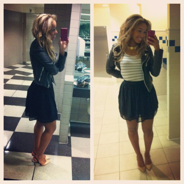 #picstitch #ootd Siham did my hair.. Love it!! Thanx sis!! #Bathroompics  #faarrow  (Taken with  Instagram )