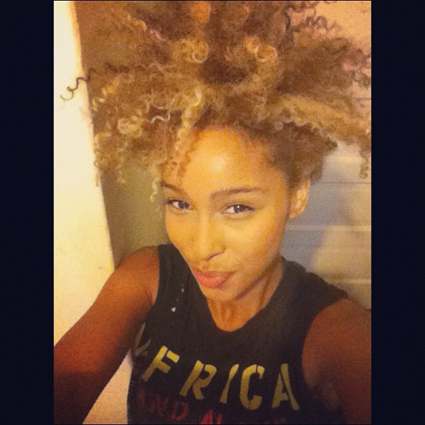 *่ MADE IN AFRICA ☺… #iman #Faarrow #curlyhair #naturalhair #Curlyblonde