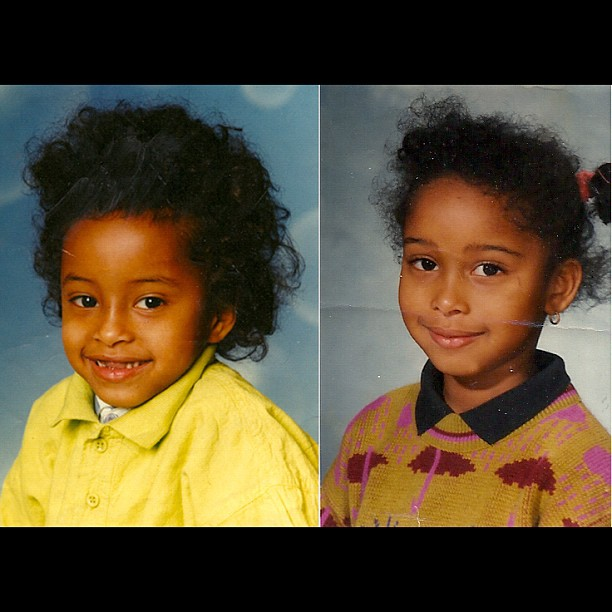 EINSTEIN And RAVEN SYMON E   LOOL    Baby Faarrow!    #wtf #whydidntmommydoourhair #wherearesihamsteeth #naturalhair #faarrow #iman #siham -__-