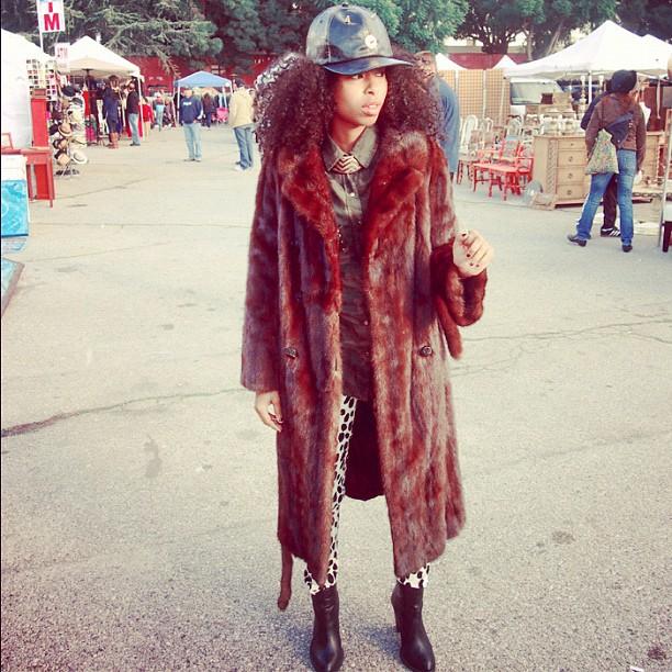 *่ Pimpin Ain't Easy  #faarrow #curlyhair #naturalhair #siham #Faarrowcap #furcoat #pimp