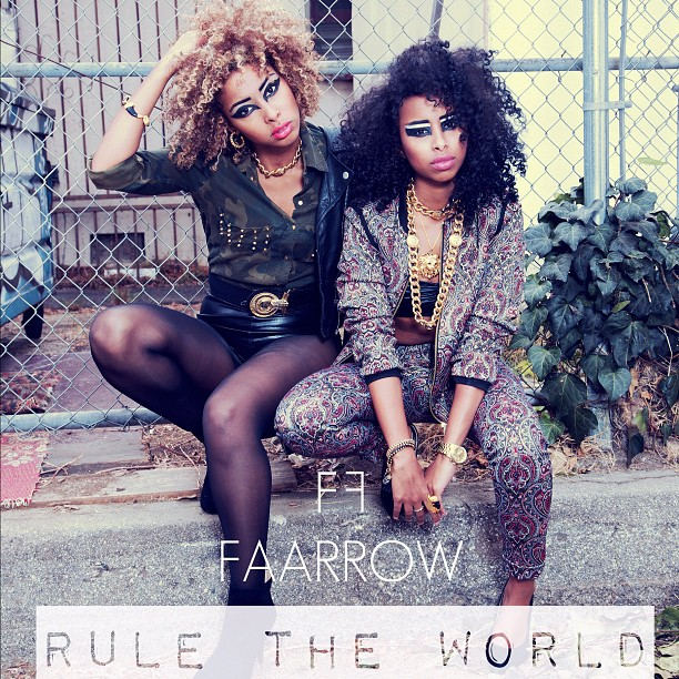 "DOWNLOAD + Listen to our NEW Single ""Rule The World"" Produced by: Elijah Kelley on  www.soundcloud.com/Faarrow   ☺.    #faarrow #newmusic #curlyhair #iman #siham"