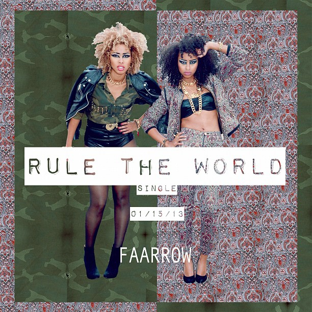 "Our First single ""Rule The World"" will up tomorrow for a Free Download!! 🎉🎉 We're excited to shoot the Music Video this week! 👯💋 #faarrow #Newmusic #Ruletheworld #curlyhair #naturalhair #Africa #Somalia #iman #siham #Worldpop  ✌ (at WORLD POP)"