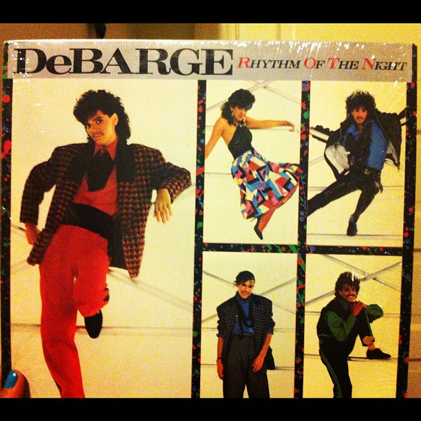"1 Dollar finds!! DeBARGE ""Rhythm of the Night"" Vinyl. ☺💋 one of our Fave songs!! 🎵 #Familybands #Debarge"