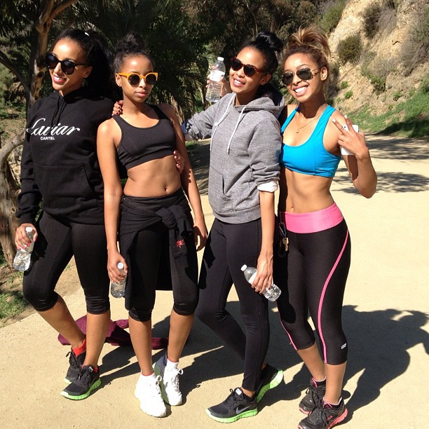 On Instagram straight flexin @aminalula @nuni15 (at Runyon Canyon Park)