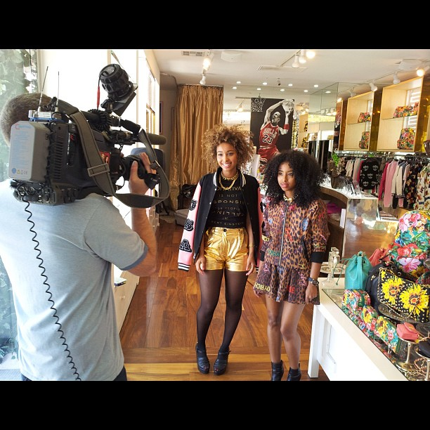 Shut down @joyrichla for our exclusive @etalk interview #joyrich #Faarrow #joyrichla #etalk (at Joy Rich)