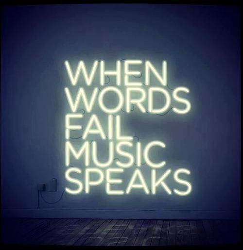 When words fail, music speaks
