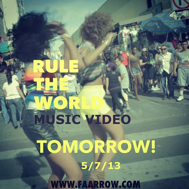 RULE THE WORLD Music Video out Tomorrow! #faarrow #musicvideo #ruletheworld 👯🎥💥