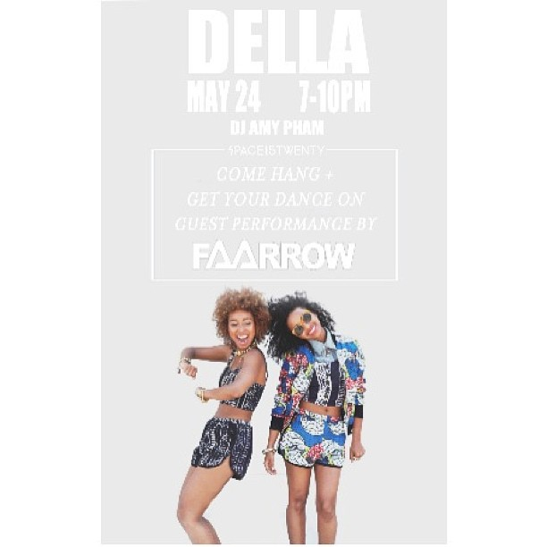 Come watch us perform on Friday @space15twenty for the DELLA X URBAN OUTFITTERS event  @dellalosangeles @urbanoutfitters #faarrow #ruletheworld 💋✌