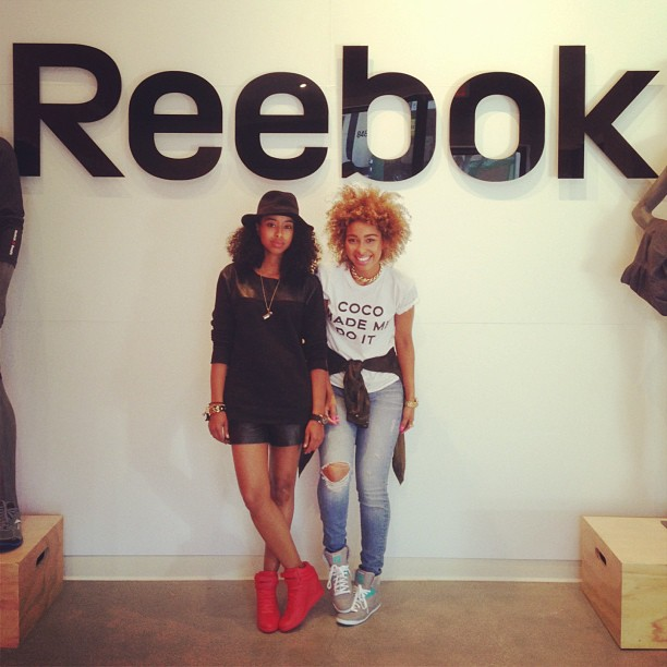 Thanx for the cute @reebokclassic swag! #weRclassic #reebokhappyhour #faarrow