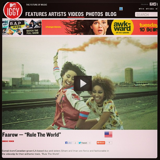 Thanx @mtviggy for the love! ❤💋 #faarrow #ruletheworld #mtv #mtviggy