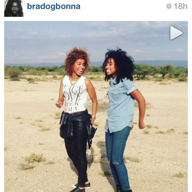Follow Our awesome friend @Bradogbonna He took a instagram video of us in the kenyan desert practicing our cultural dance LOL!! 🎥📢🐫💋 #Africa (at Nairobi Kenya)