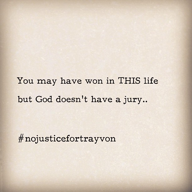 Sad and sickened #nojusticefortrayvon #institutionalizedracism