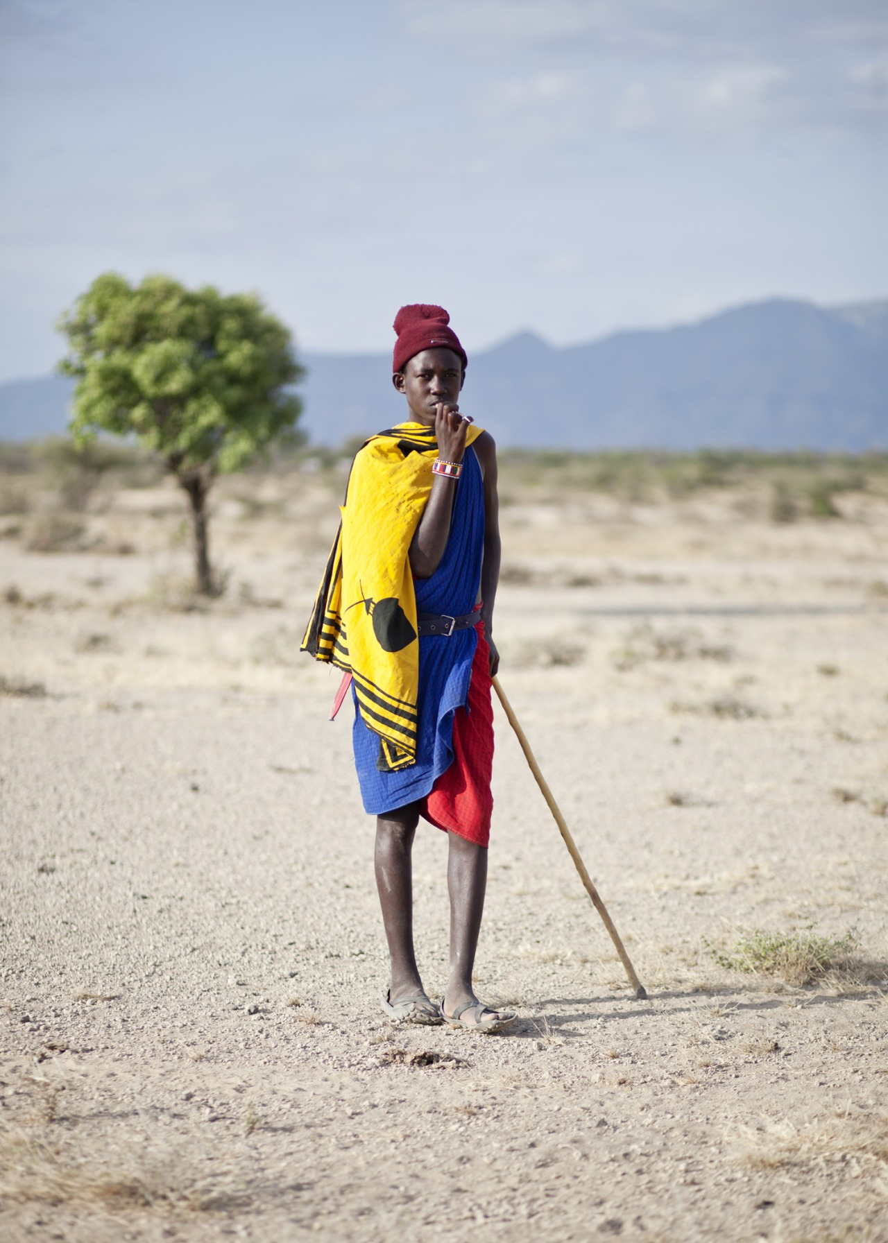 studioafrica :     For the FAARROW music video, we shot in a desert outside of Nairobi. It happened to be nearby a nomadic Maasai village so we were frequently visited by people passing through.     This is a Maasai teenager that I met on the first day of scouting.