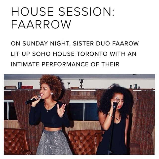 We had so much Fun Performing at SoHo House Toronto. Thank You @blairmcgregor ! Special shout out to @randibergman for the interview 💋 #faarrow #sohohouse #houseseven #Toronto #Tdot