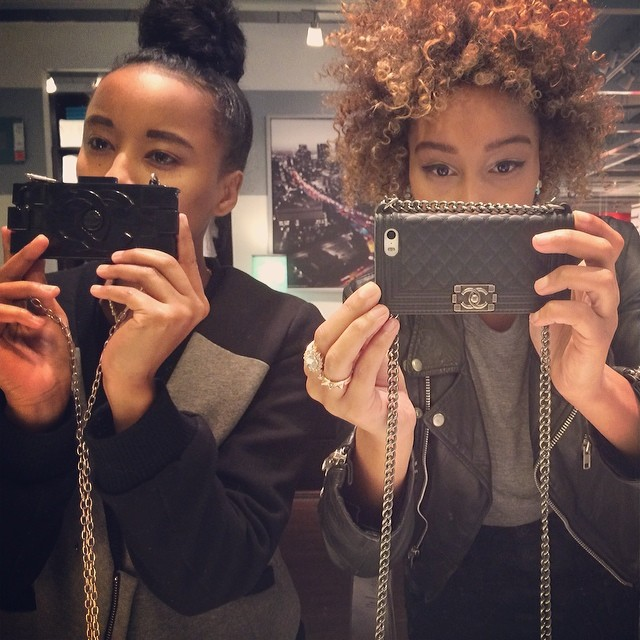 IKEA Célfie with our iPhone purse cases that've been saving them from destruction! #faarrow 💲💲