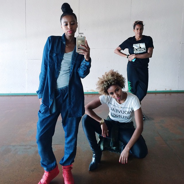 TEAM #faarrow W/ our girl @boomkack #Rehearsals ⚠️