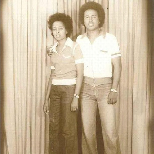 *่ Vintage Hooyo and Aabo (Mom & Dad) in Somalia. See you guys soon!! #vintage #somalia #70s #afro