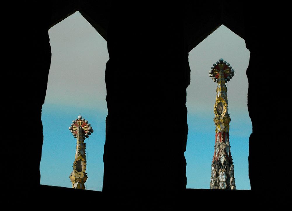"""Framed Spires, Sagrada Familia"", Barcelona, 2005"