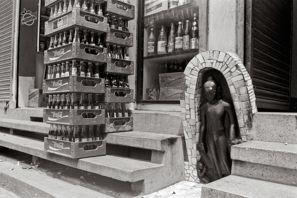 """""""Coca Cola, Buddha"""", Kathmandu, Nepal, 1992"""