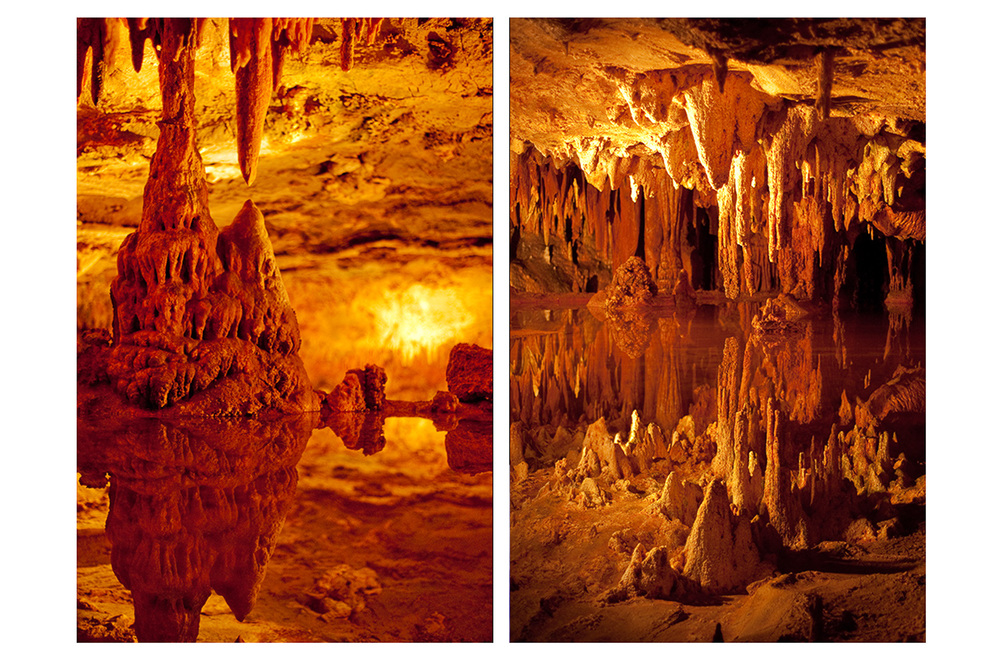 """Cavern Diptych"", Luray Caverns, VA, 2014"