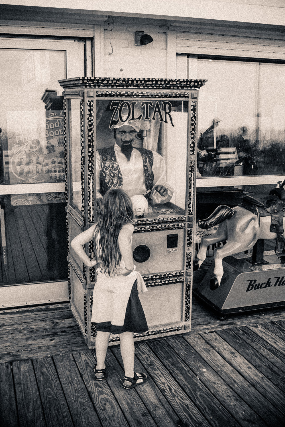 """Consulting with Zoltar"", Rehobeth Boardwalk, Delaware, 2015"