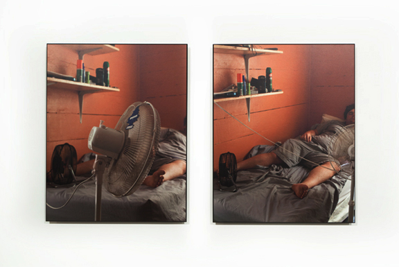 Jackie Furtado  On Break I  and  On Break II , 2012. Two pigment prints 16 x 20 inches each