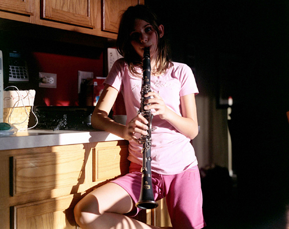 Jackie Furtado,  Taylor and her clarinet  , 2012.