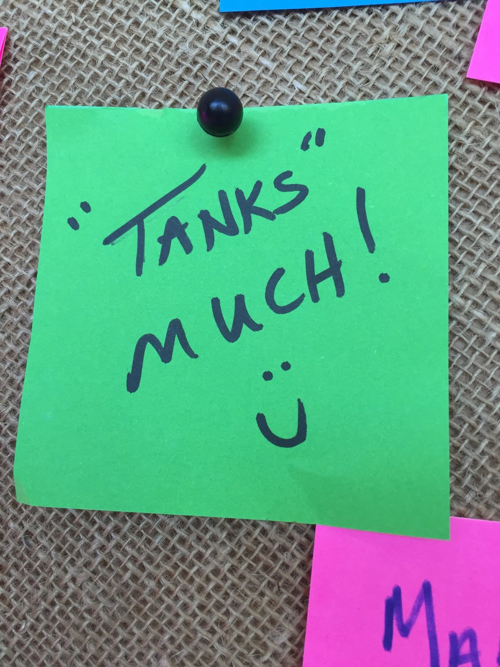 Tanks-much